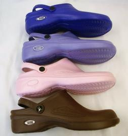 1 Natural Uniforms Women Ultralite Nurse Clogs W Heel Strap