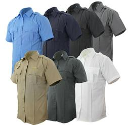 100 percent polyester short sleeve uniform shirt