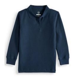 2-pack Wondernation Boys School Uniform Long Sleeve Polo Shi