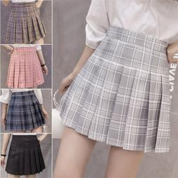 6Colors Korea Japanese <font><b>Girls</b></font> Pleated <fo