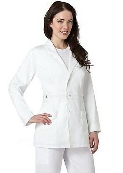 "Adar Pop-Stretch Junior Fit Women's 28"" Tab-Waist Lab Coat"