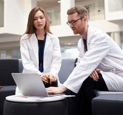 High Quality Professional Lab Coat  Medical White Unisex L M