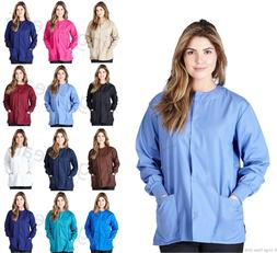 Medical Nursing Scrub Warm Up Jacket Natural Uniforms Women