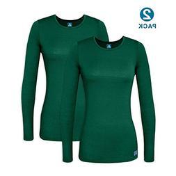 Adar 2 Pack Women's Comfort Long Sleeve T-Shirt/Underscrub T
