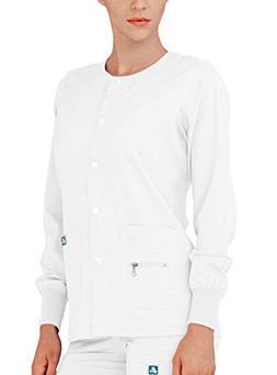 Adar Indulgence Womens Jr Fit Multi Pocket Warm-Up Scrub Jac