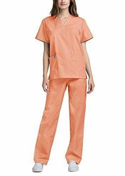 Adar Medical Uniforms Unisex Doctor/Nurses Scrub Set Top & P