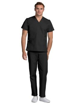 Adar Men's Medical Nursing Doctor Scrub Set Uniform V-neck S