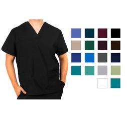 Adar Men's Short Sleeve Medical Nursing Workwear 1 Pocket V-