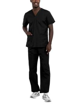 Adar Men Workwear Medical Nursing Doctor Uniform Scrub Set U