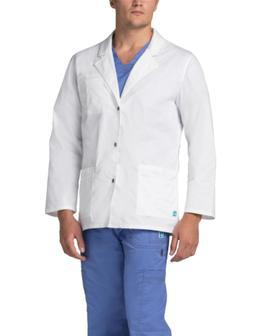 """Adar Pop-Stretch Mens 31"""" Snap Comfort Fit Front Lab Coat Un"""