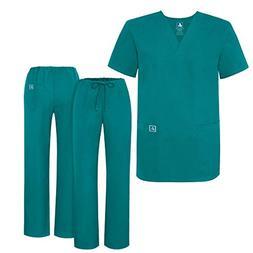 Adar Universal Medical Scrubs Set Medical Uniforms - Unisex