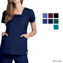 adar women doctor nurse workwear pintuck pleating