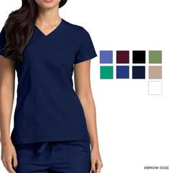 Adar Women Nurse Short Sleeves Uniform Double Stiched With A