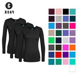 Adar Women's Comfort Long Sleeve T-Shirt/ Under Scrub Yoga T