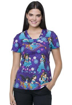Aladdin Cherokee Scrubs Tooniforms Disney V Neck Top TF641 P