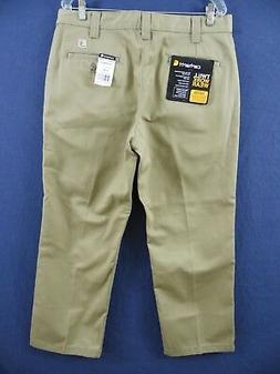 CARHARTT B290 KHI 46 30 Work Pants, Khaki, Size 46x30 In