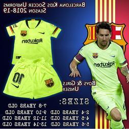 Barcelona Kids Away Soccer Uniforms Messi #10 size 2-14 year