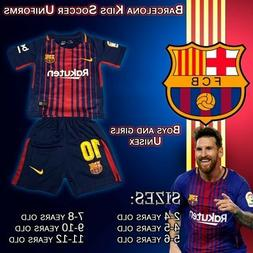 Barcelona Kids Soccer Uniforms Messi #10 size 2-14 years old