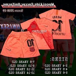 Barcelona Kids Third Pink Soccer Uniforms Messi #10 size 2-1