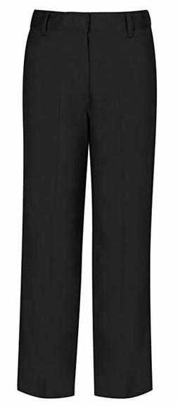 Classroom Uniforms Big Boys' Husky Flat Front Pant Black 503