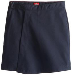 Dickies Big Girls' Faux Wrap Skort, Dark Navy, 10 Regular