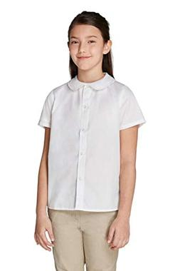 French Toast Big Girls' Short Sleeve Peter Pan Collar Blouse