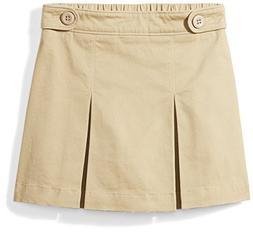 Amazon Essentials Big Girls' Uniform Skort, Khaki, M