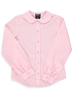 5106d9585b1 French Toast Big Girls  L S Peter Pan Blouse - pink