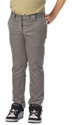 Dickies Big Boys' Skinny Straight Pant, Silver, 8