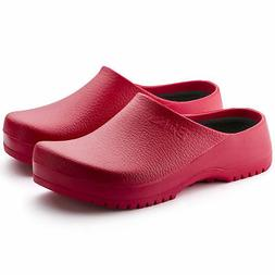 BIRKENSTOCK BIRKI'S SUPER-BIRKI RED CLOGS MEN'S WOMEN'S UNIS