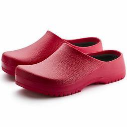 BIRKENSTOCK BIRKI'S SUPER-BIRKI RED CLOGS MEN'S WOMEN'S UNIS