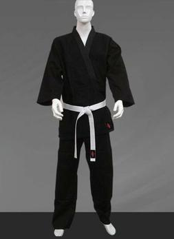 KANKU Taekwondo Uniforms White Color 10 Oz white V neck black V neck white belt