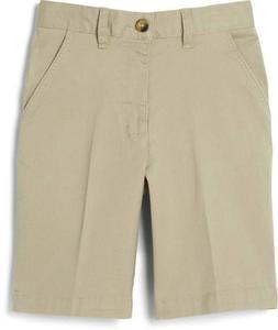 French Toast Boy's School Uniform Flat Front Shorts Khaki, 7