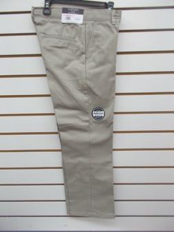 Boys Nautica $36 Uniform/Casual Khaki Flat Ft Double Knee Pa