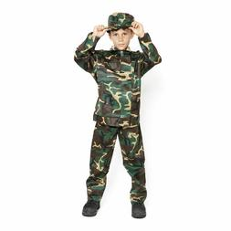 Boys Army Kids Soldier Action Man Fancy Dress Costume Outfit