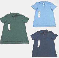 Boys Blue Polo Shirts School Uniforms Navy Green Size XS S M