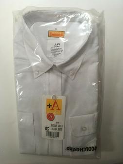 Boys Dress Shirt Long Sleeve Solid School Uniform Size 20 Wr