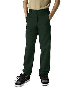 Dickies Boys Hunter Green Pants Flat Front School Uniform Si