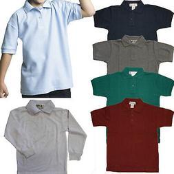 Boys Polo Goft Shirts short & long sleeve PIQUE Kids School