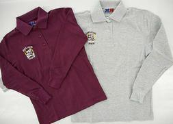 Boys R/K Assorted L.S. Challenger School Uniform Polo Shirt