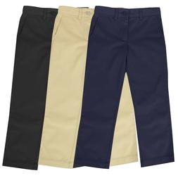 Boys School Uniform Pants New Size 4-16 Regular & Husky Flat