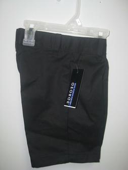 George Boys School Uniforms Black Flat Front Shorts; Many Si