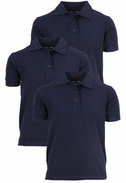 Boys Short Sleeve School Uniform Pique Polo Shirts  Beverly