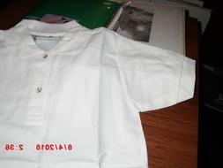 Boys White Polo Shirts Omega Short Sleeve School Uniform,Gir