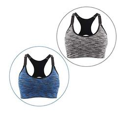 Navvour Women 's Sports Bra Tops with Adjustable Strap and R