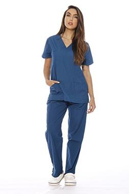 22255V-XL Carribean Blue Just Love Women's Scrub Sets / Medi