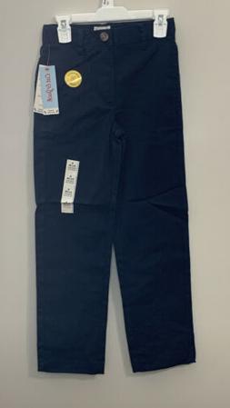 Cat & Jack Boys Navy Flat Front Stretch Uniform Straight Pan