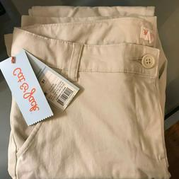 Cat & Jack Girls' Khaki Uniform Pants - Size 16 NWT