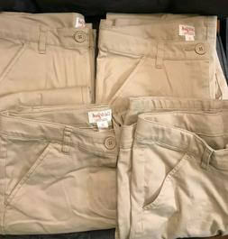 Cat & Jack Girls' Khaki Uniform Pants - Size 16 - Lot of 4 P