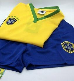 cbf kid s soccer set conjunto uniforme